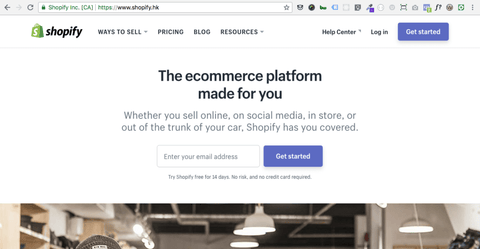 Shopify Official Website