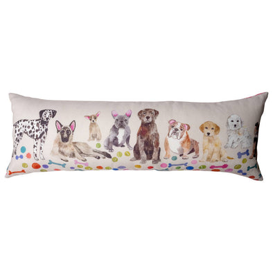 Dog Print Pillow Designed by Hand