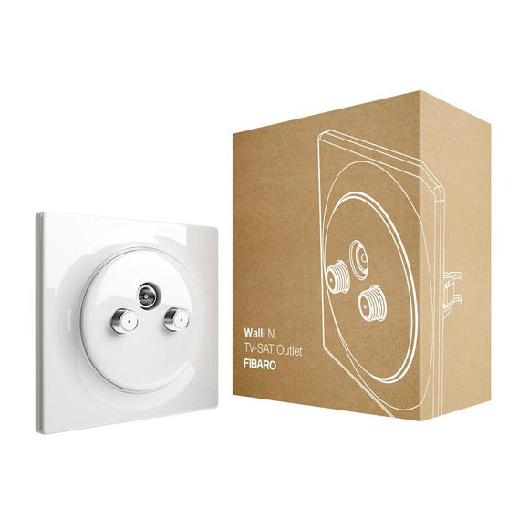 FIBARO Walli N TV-SAT Outlet - EMP SmartHome