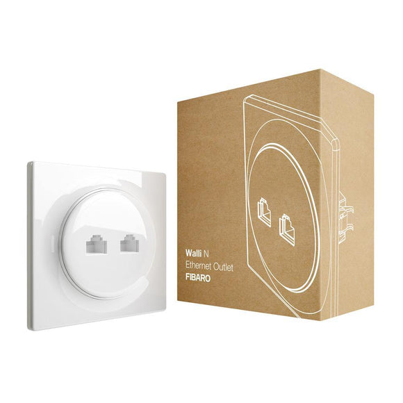 FIBARO Walli N Ethernet Outlet - EMP SmartHome