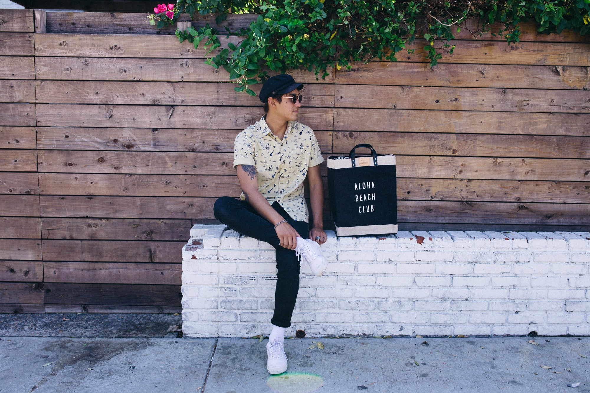 Apolis x Aloha Beach Club black Market Bag