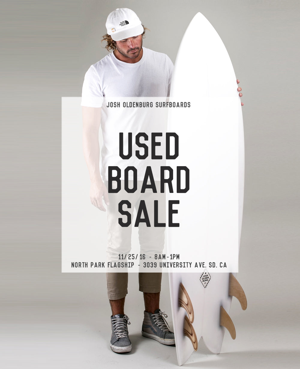 Josh Oldenburg Surfboard Sale