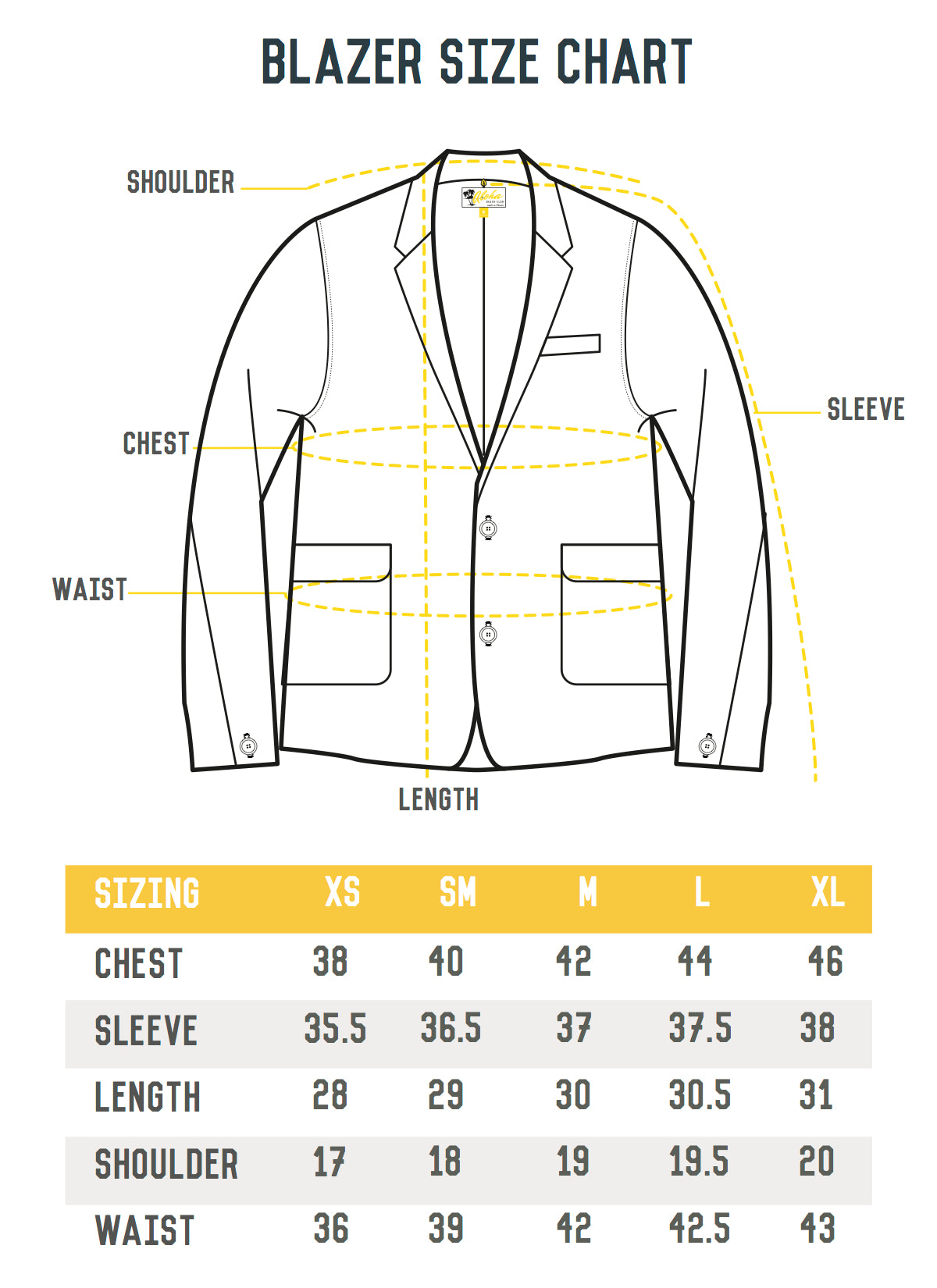 The length of ASOS Blazers varies according to style. On average size 40