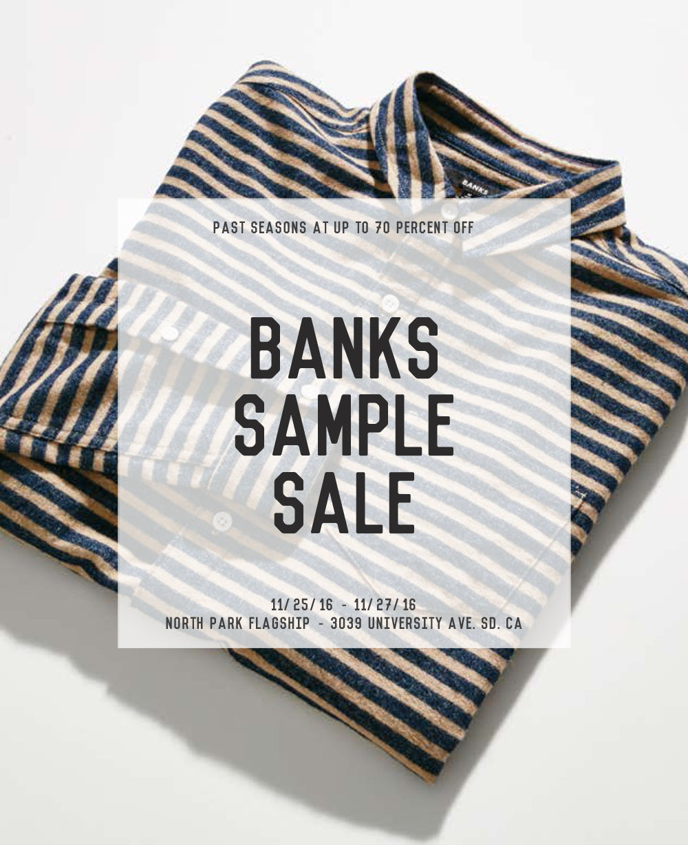 Banks Sample Sale