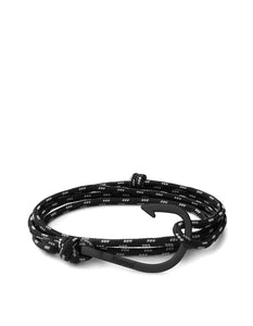 Miansai - Hook On Rope Bracelet Noir / Asphalt