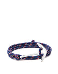 Miansai - Anchor On Rope Bracelet Polished Silver / Navy Blue