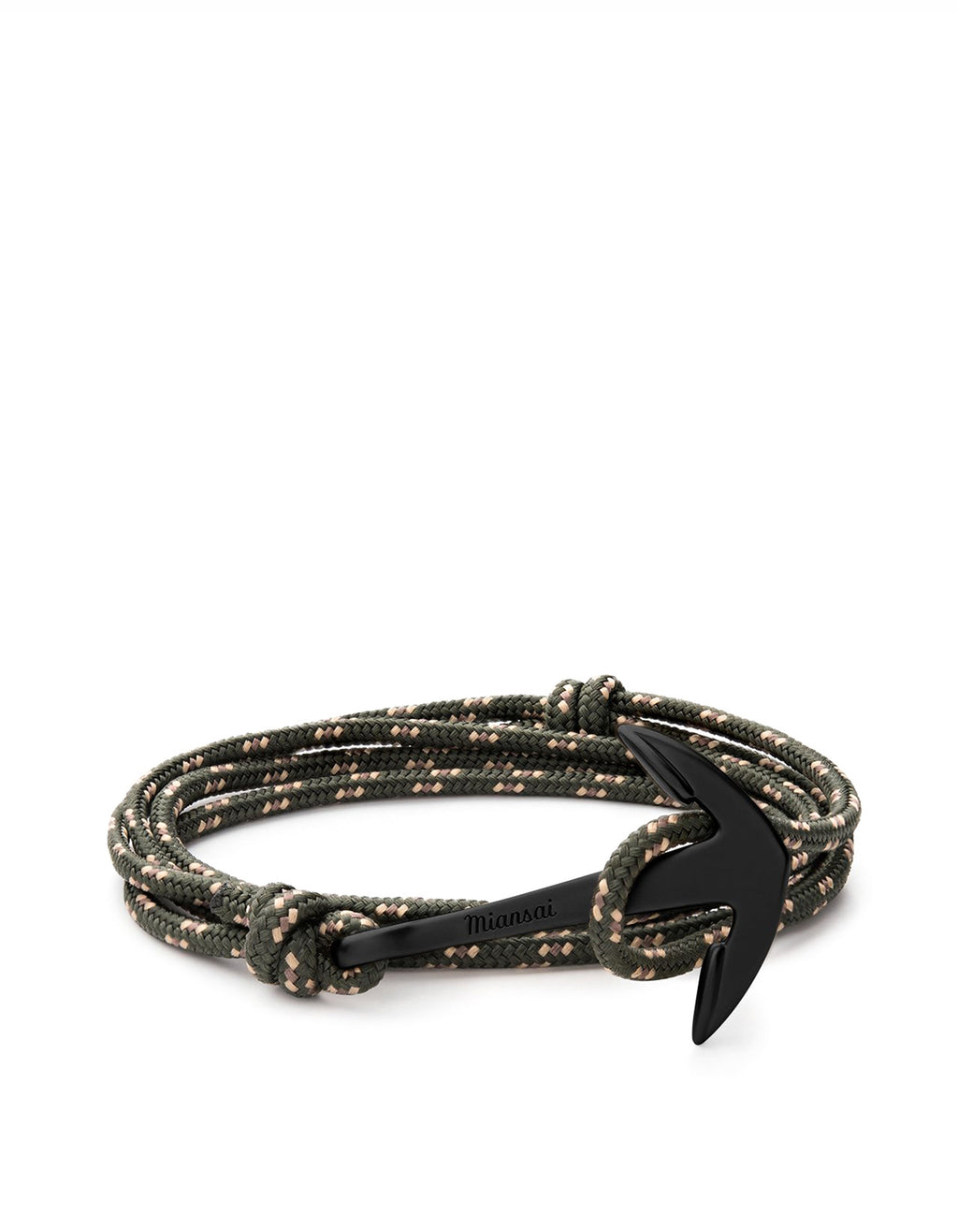 Miansai - Anchor On Rope Bracelet Noir / Hunter Green