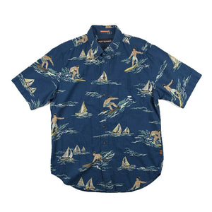 Reyn Spooner - Surf and Sail Blue Hawaiian Shirt