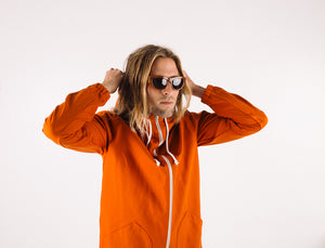 Aloha Beach Club - Konia Canvas Parka in Orange - Aloha Beach Club