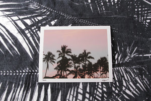 "Analogue Convergence - 8"" x 10"" Palms Print - Aloha Beach Club"