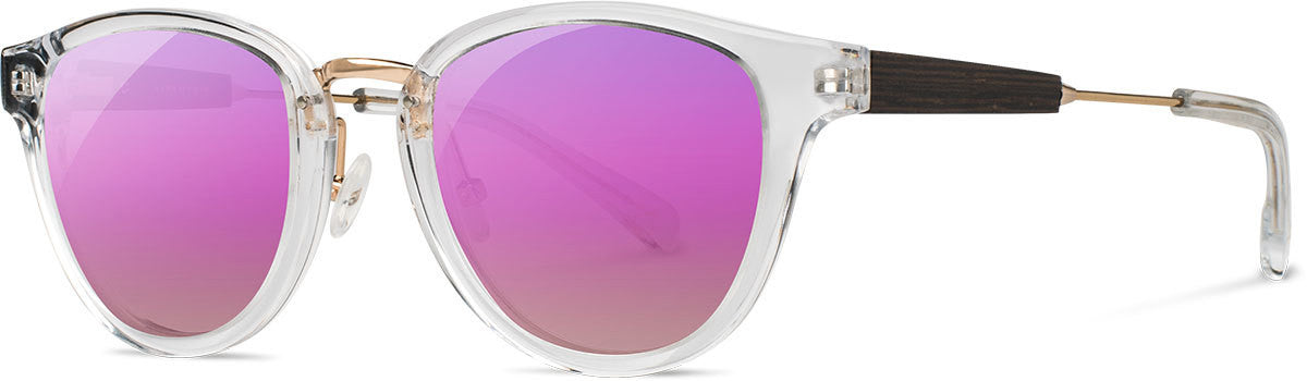 Shwood - Ainsworth : Crystal & Gold - Rose Flash Polarized
