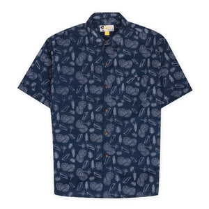 Aloha Beach Club - Elwell Navy Short Sleeve Aloha Shirt - Aloha Beach Club