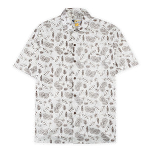 Aloha Beach Club - Elwell Natural Short Sleeve Aloha Shirt - Aloha Beach Club