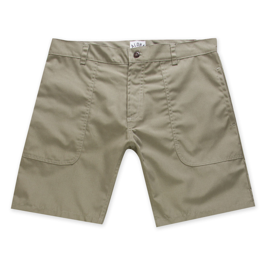 Aloha Beach Club - Hattie Military Green Camp Walkshort - Aloha Beach Club