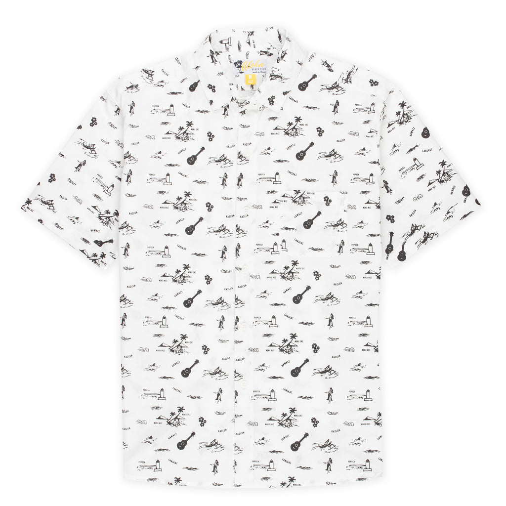Aloha Beach Club - Lanikai White Short Sleeve Aloha Shirt - Aloha Beach Club