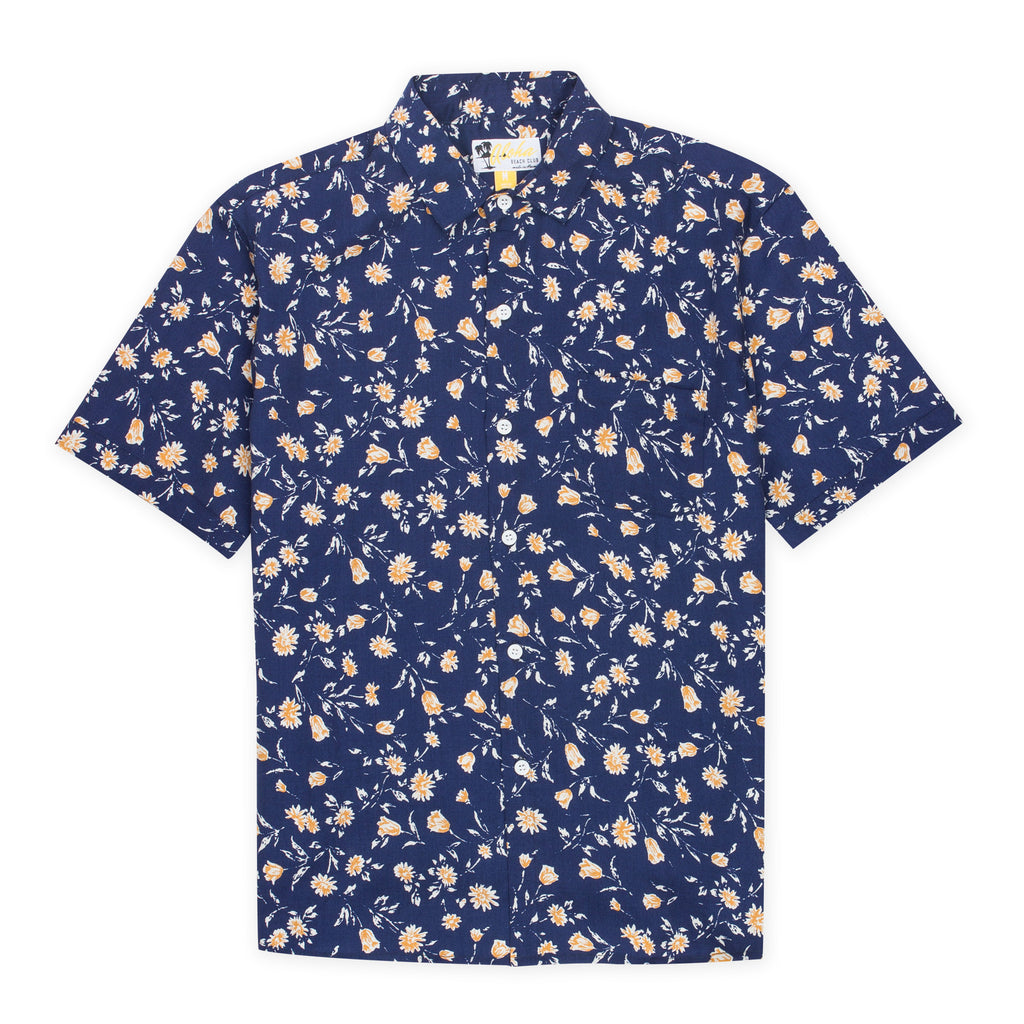 Aloha Beach Club - Makua Navy Short Sleeve Aloha Shirt - Aloha Beach Club