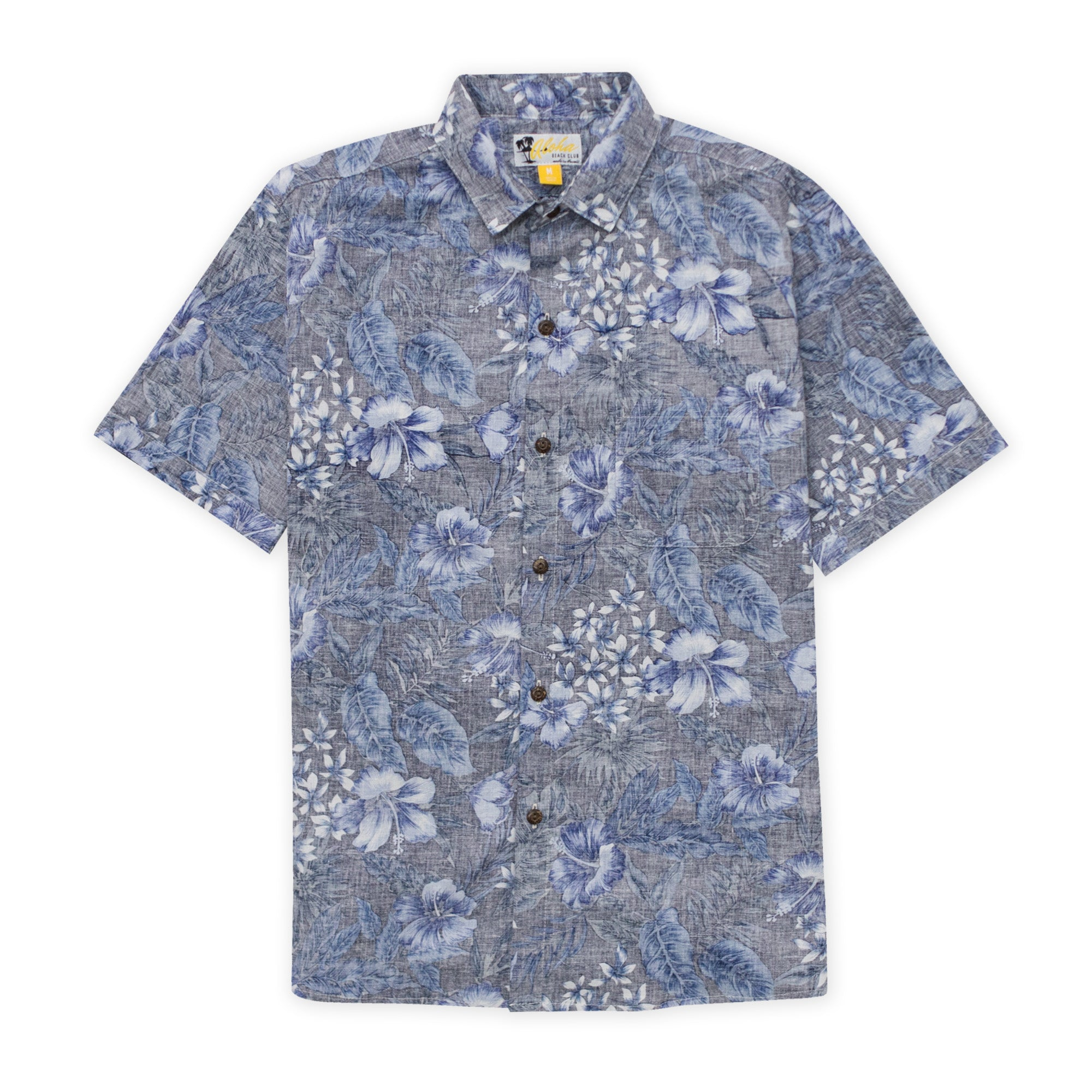 Aloha Beach Club - Nelly Short Sleeve Aloha Shirt Blue - Aloha Beach Club