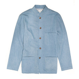 Aloha Beach Club - Paki Light Denim Mandarin Shirt - Aloha Beach Club