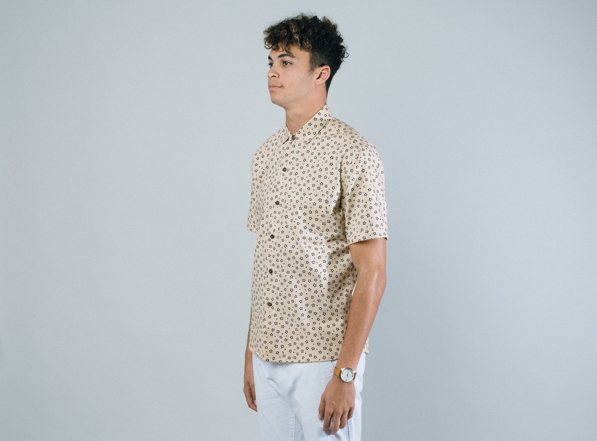 Aloha Beach Club - Pearl City Natural Short Sleeve Aloha Shirt - Aloha Beach Club