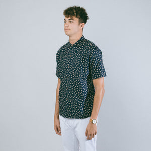 Aloha Beach Club - Pearl City Navy Short Sleeve Aloha Shirt - Aloha Beach Club