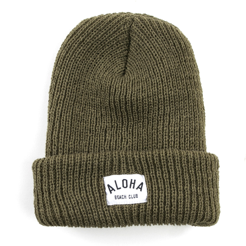Aloha Beach Club - Charlie Beanie Military Green - Aloha Beach Club