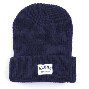 Aloha Beach Club - Charlie Beanie Navy - Aloha Beach Club