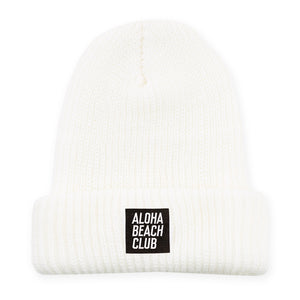 Aloha Beach Club - Kurtz Beanie White - Aloha Beach Club