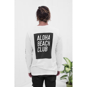Aloha Beach Club - White Moonshine Long Sleeve Tee - Aloha Beach Club