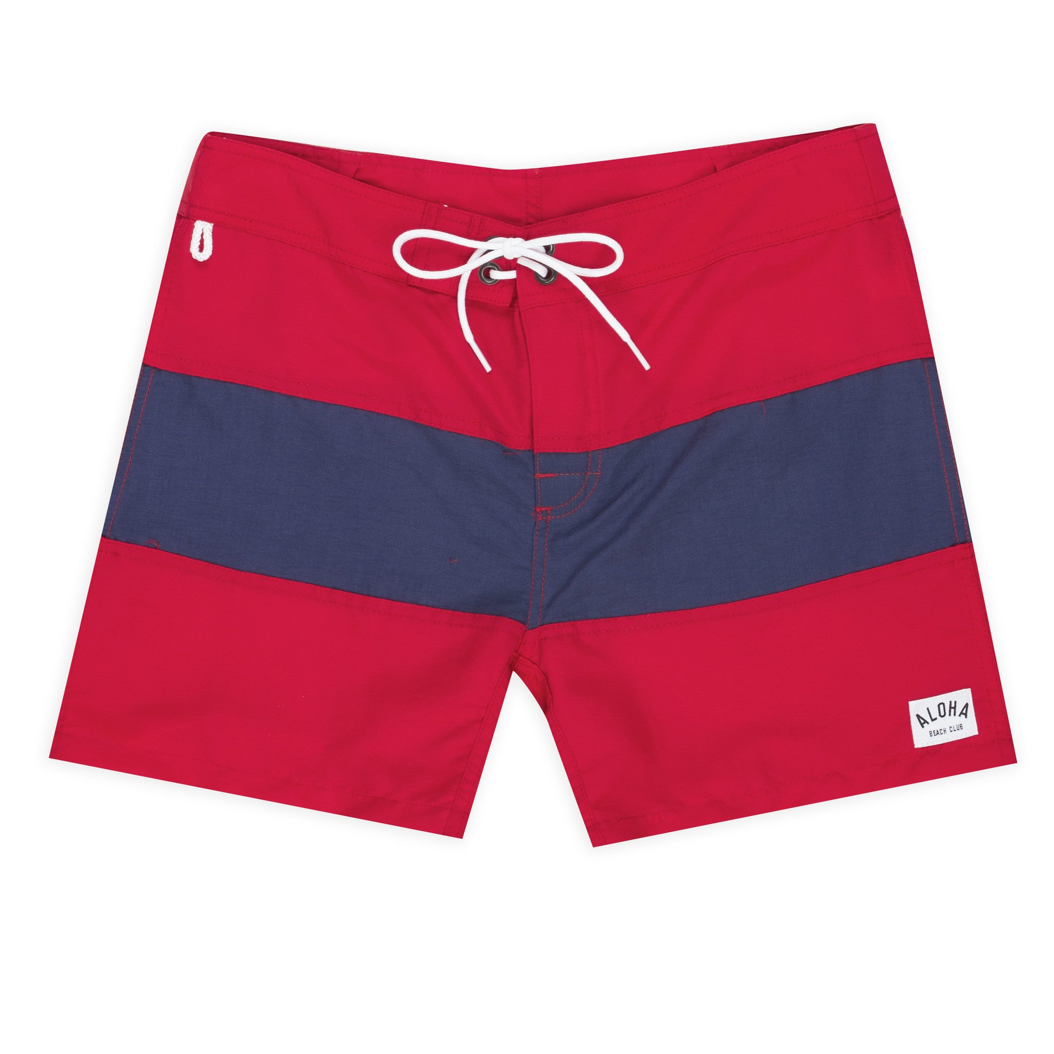Aloha Beach Club - Tucker Trunk in Red and Navy - Aloha Beach Club