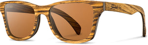 Shwood - Canby: Zebrawood - Brown Polarized