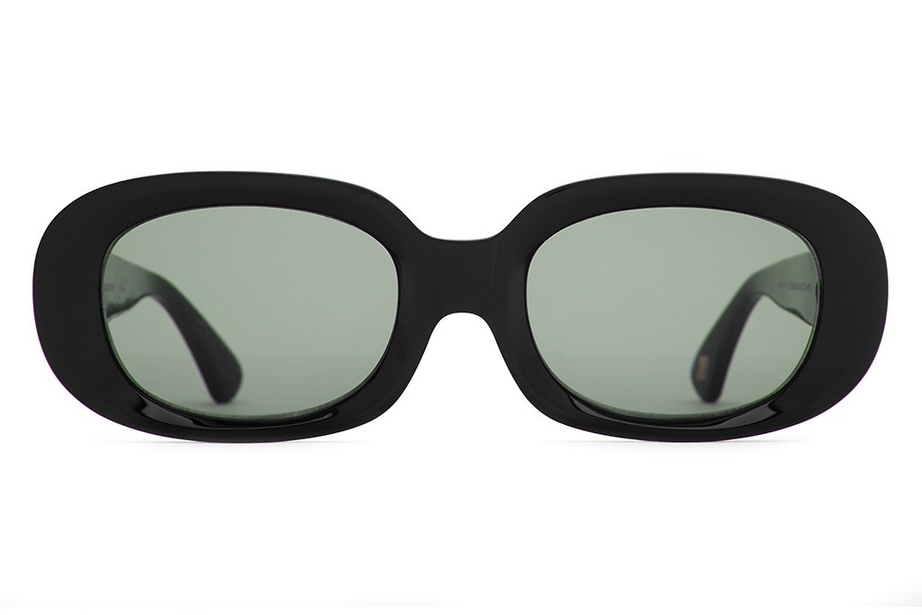 CRAP EYEWEAR - The Bikini Vision Gloss Black Acetate w/ Vintage Green CR-39 Lenses