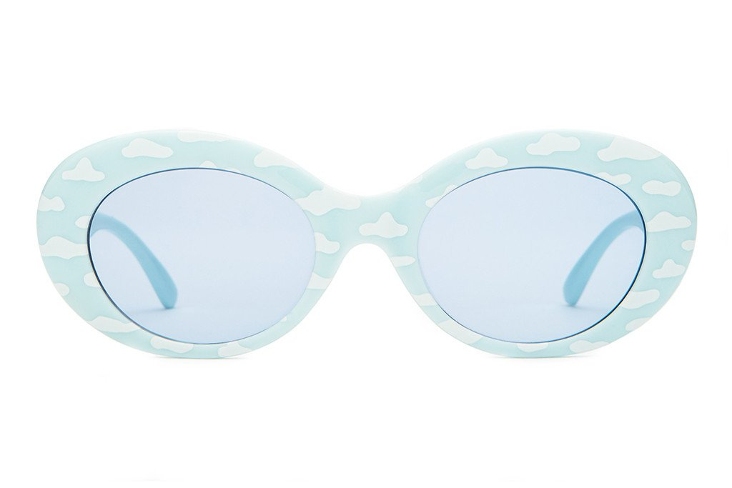 CRAP EYEWEAR - The Love Tempo Gloss Sky Blue & White Clouds w/ Light Blue CR-39 Lenses