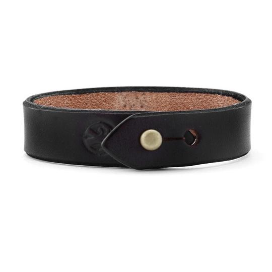 Friday & River - Black Leather Stud Bracelet