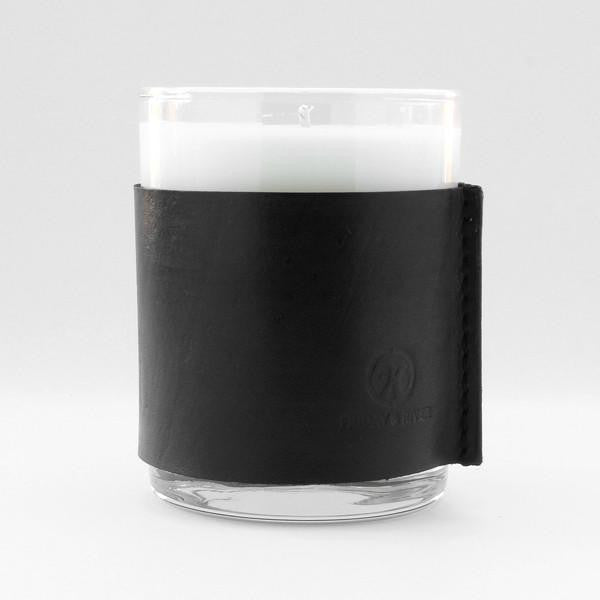 Friday & River - Candle 11oz Woodland Cabin Black Leather