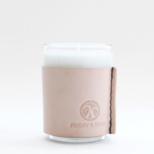Friday & River - Candle 2.5oz Yuza and the Sea Natural Leather
