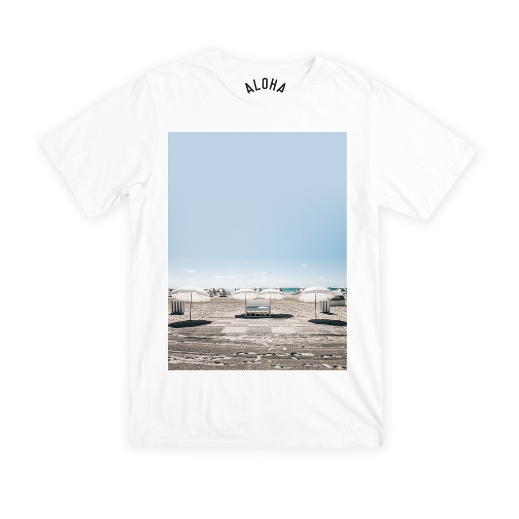 Aloha Beach Club - South Beach Tee White - Aloha Beach Club