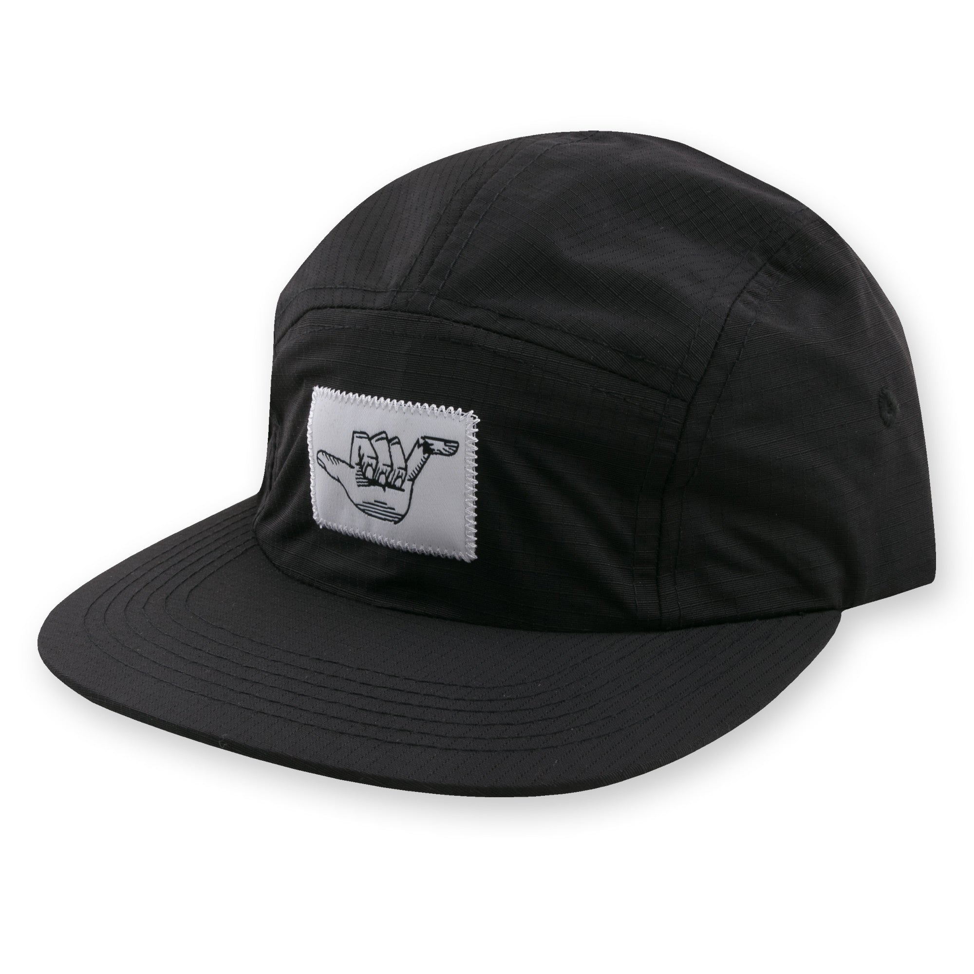 KookSlams - Broken Shaka Black Camp Hat