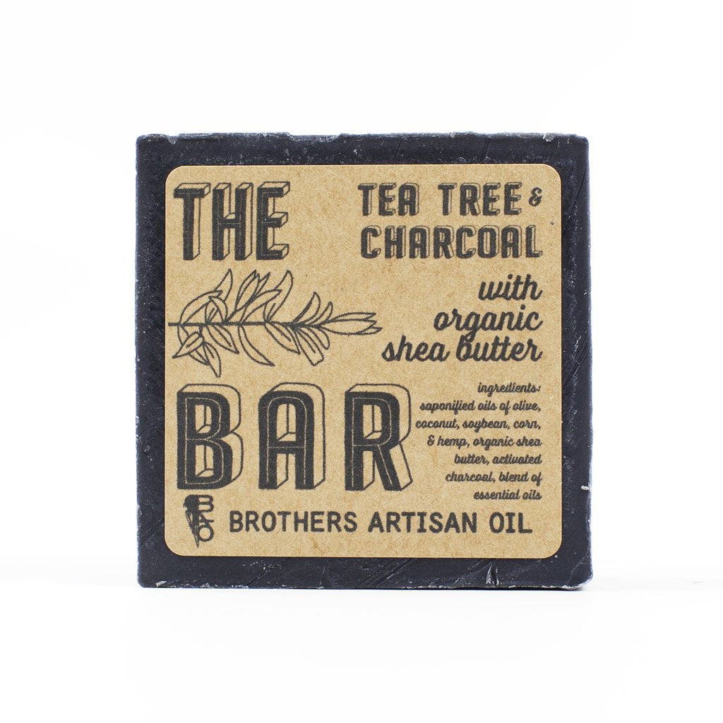 Brothers Artisan Oil - Tee Tree & Charcoal Bar Soap