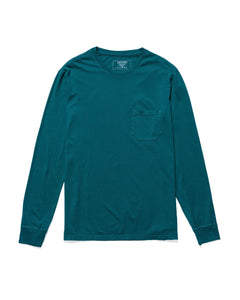RICHER POORER - Long Sleeve Pocket Tee Green