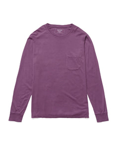 RICHER POORER - Long Sleeve Pocket Tee Plum