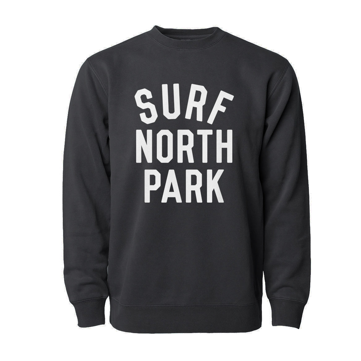 Aloha Beach Club - Surf North Park Faded Black Sweatshirt - Aloha Beach Club