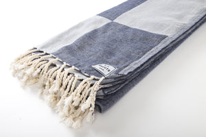 Shoots - Tribe Towel Indigo Colorblock