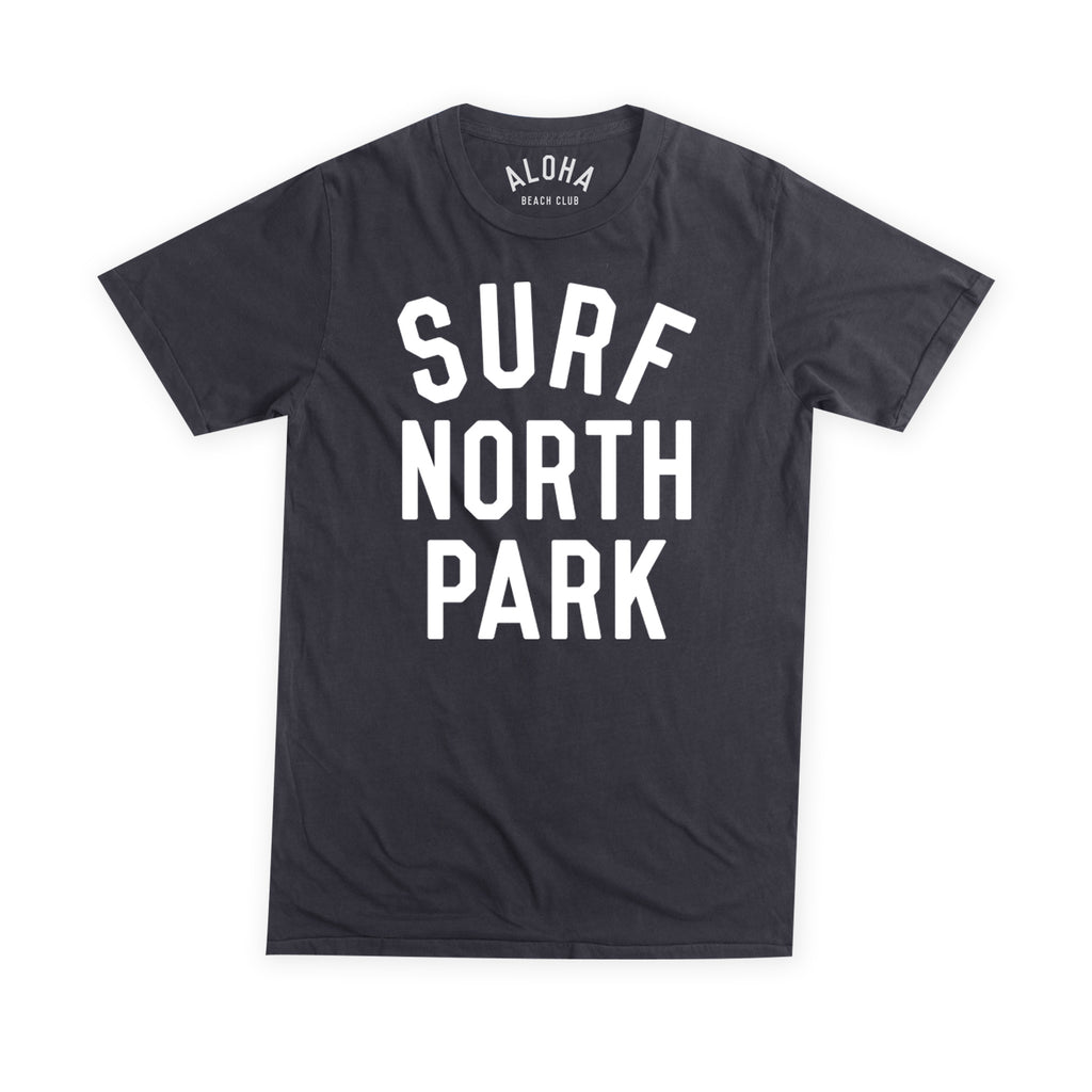 Aloha Beach Club - Surf North Park Black Tee - Aloha Beach Club