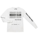 Aloha Beach Club - Thank You Long Sleeve Shirt White - Aloha Beach Club