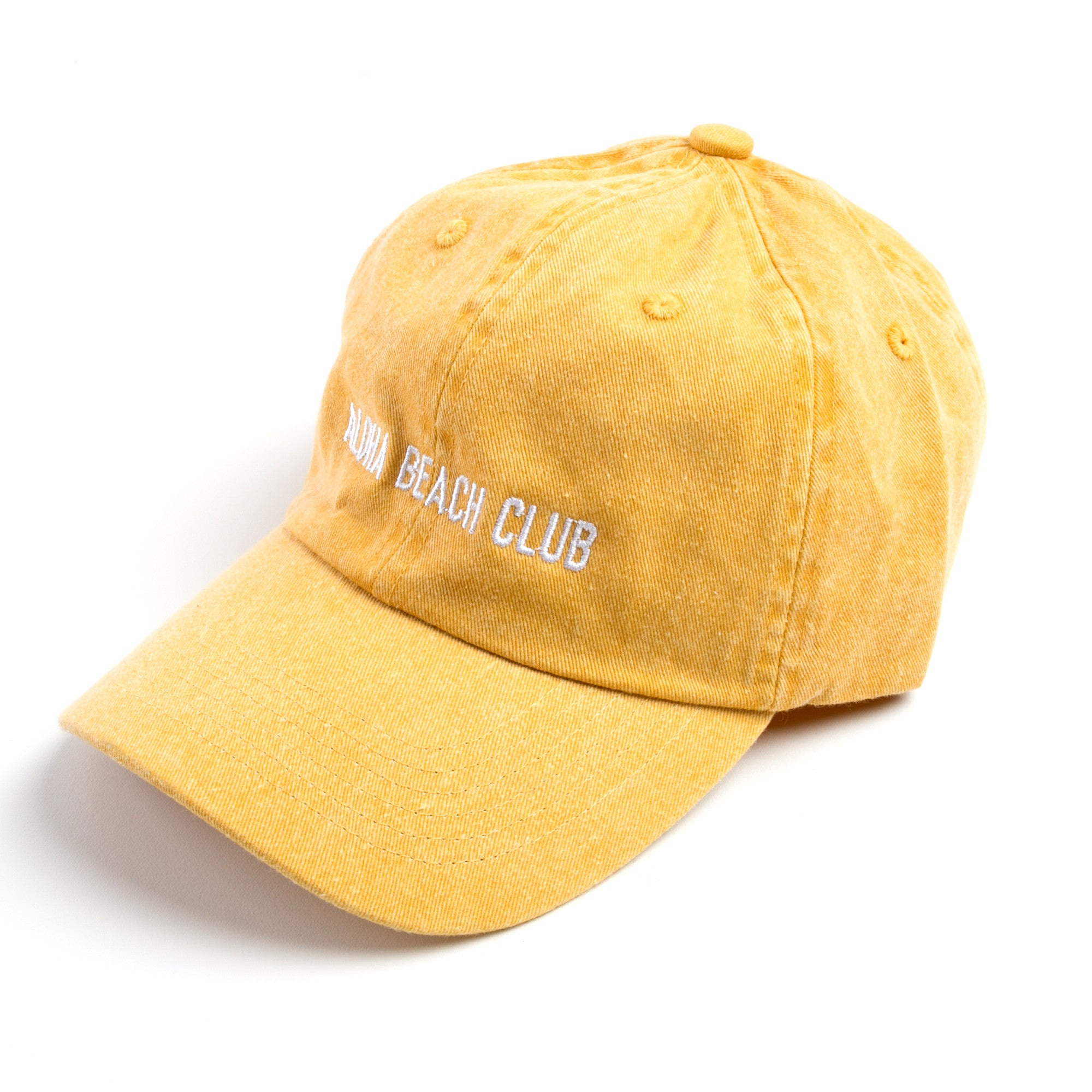 Aloha Beach Club - ABC Polo Cap Washed Gold - Aloha Beach Club