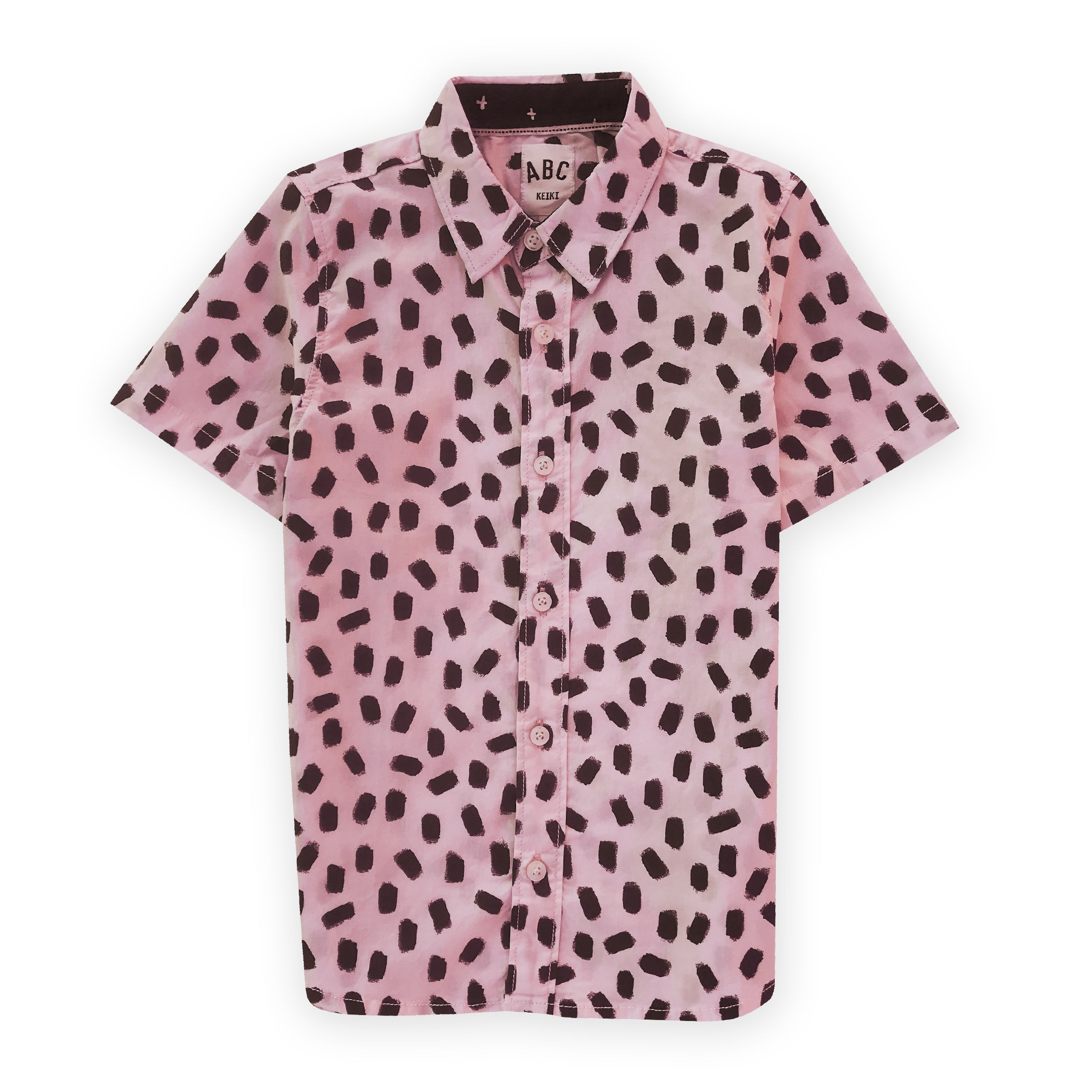 Aloha Beach Club - Kids Pink Polkadot Aloha Shirt - Aloha Beach Club