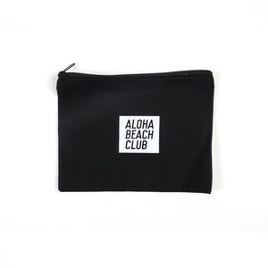 Aloha Beach Club - Cotton Canvas Dopp Kit Black - Aloha Beach Club