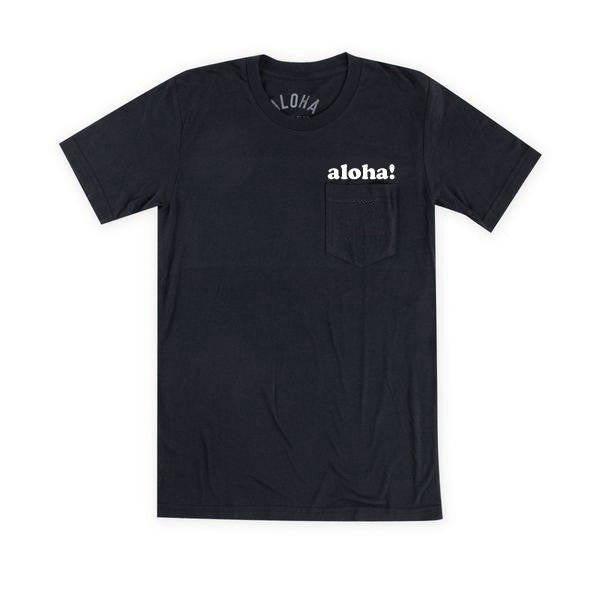 Aloha Beach Club - Black Kailua Pocket Tee - Aloha Beach Club