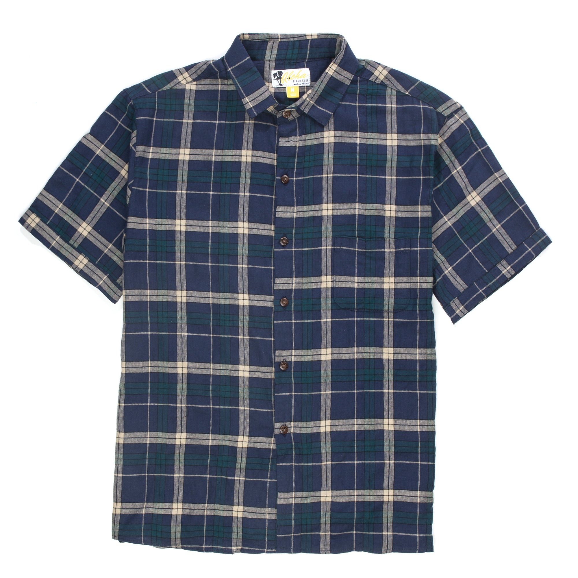Aloha Beach Club - Kalihi Short Sleeve Flannel Shirt - Aloha Beach Club