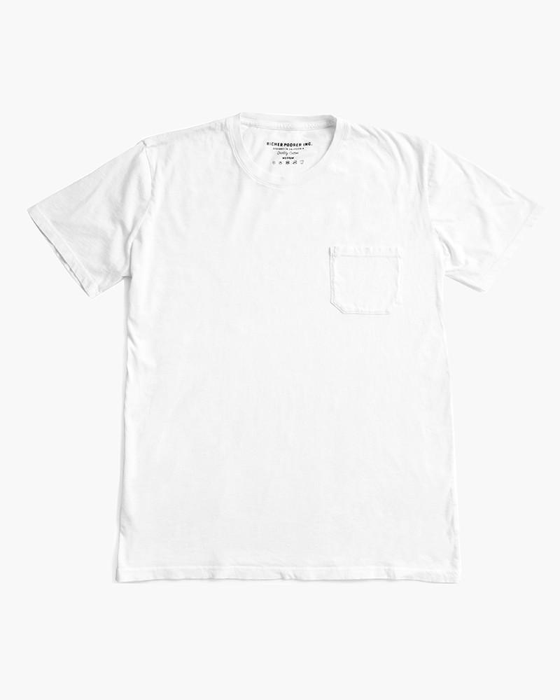 RICHER POORER - Pocket Tee White